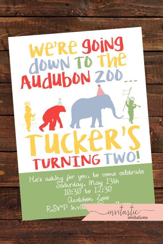 Zoo Birthday Party Invitation Safari Jungle Or Animal Theme Audubon New Orlean