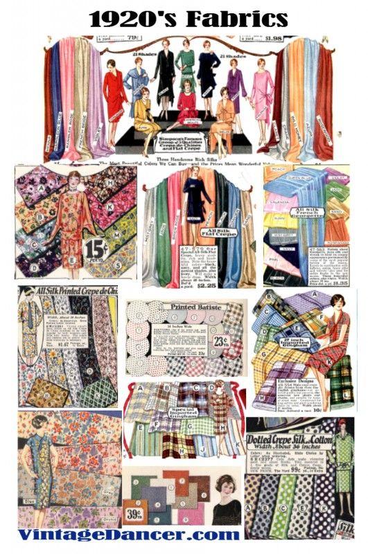 1920s Fabrics And Colors In Fashion Fabric 1920s Fashion 1920 Fashion