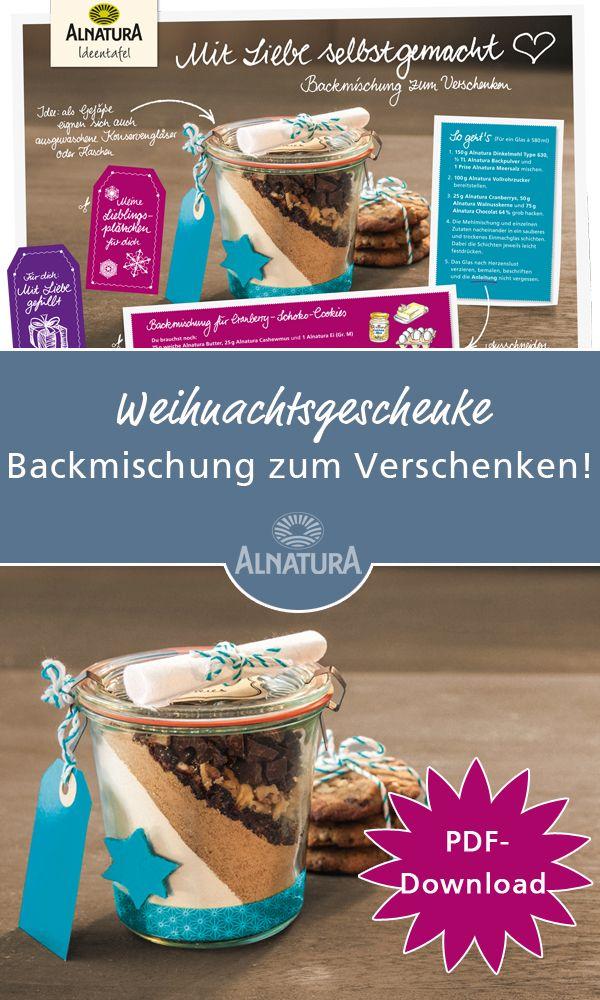 Alnatura #Weihnachtsgeschenk #DIY die #Backmischung zum #Verschenken ...