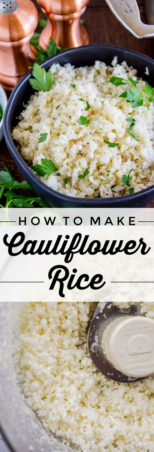 How to Make Cauliflower Rice from The Food Charlatan. Does Cauliflower Rice tast…