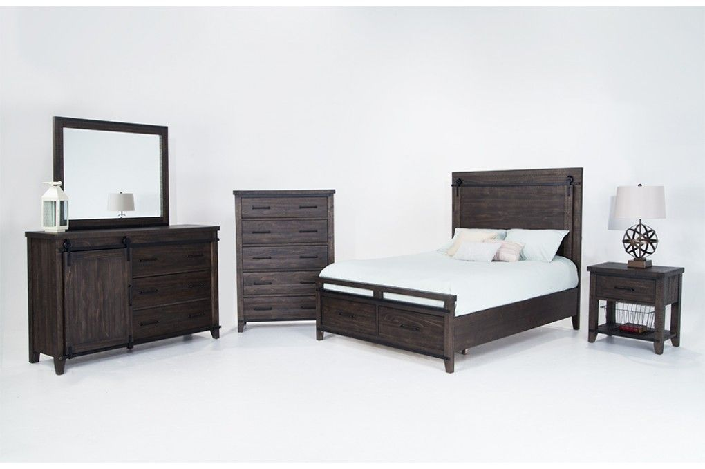 this transitional bedroom set has a high end style at only a