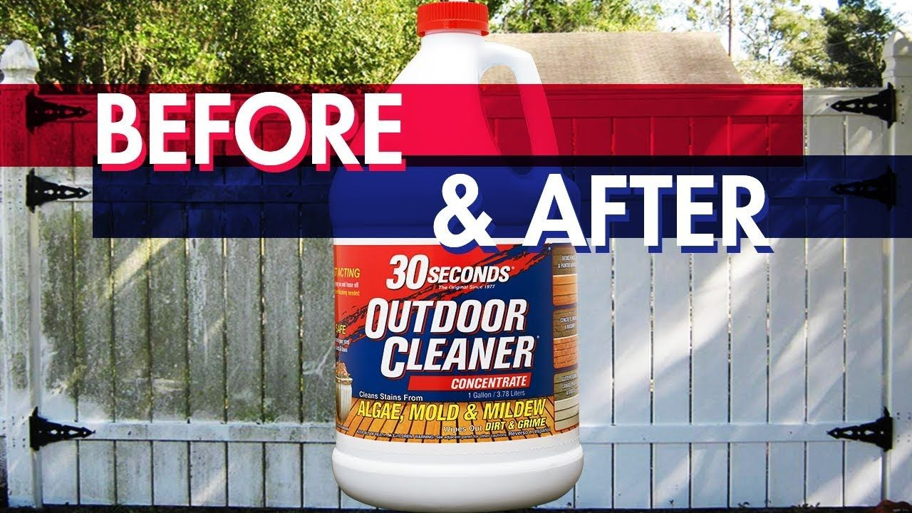 Before & After 30 SECONDS Outdoor Cleaner Outdoor