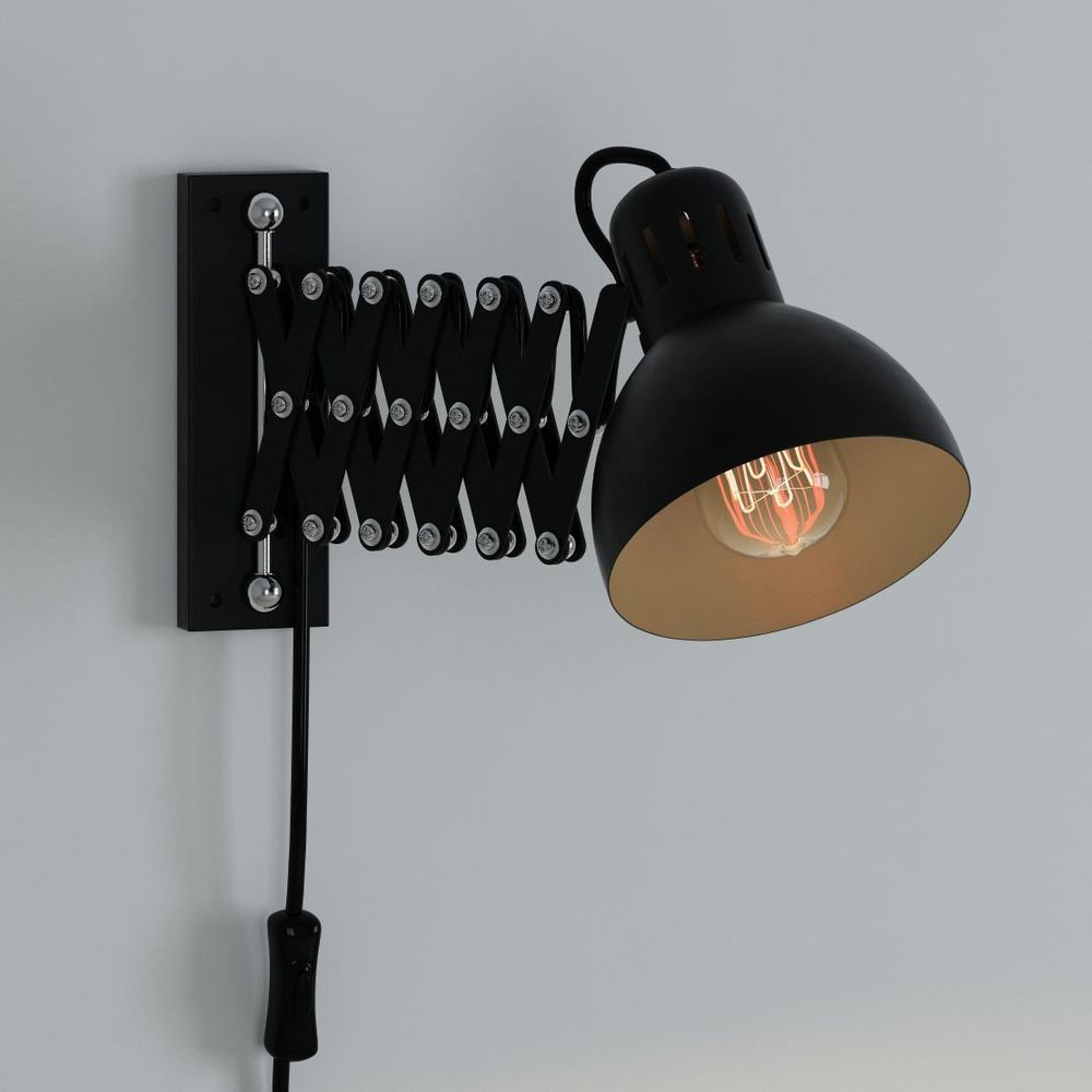 Wall mount reading lamp for bed multi purpose swing arm for Bed lights wall mounted