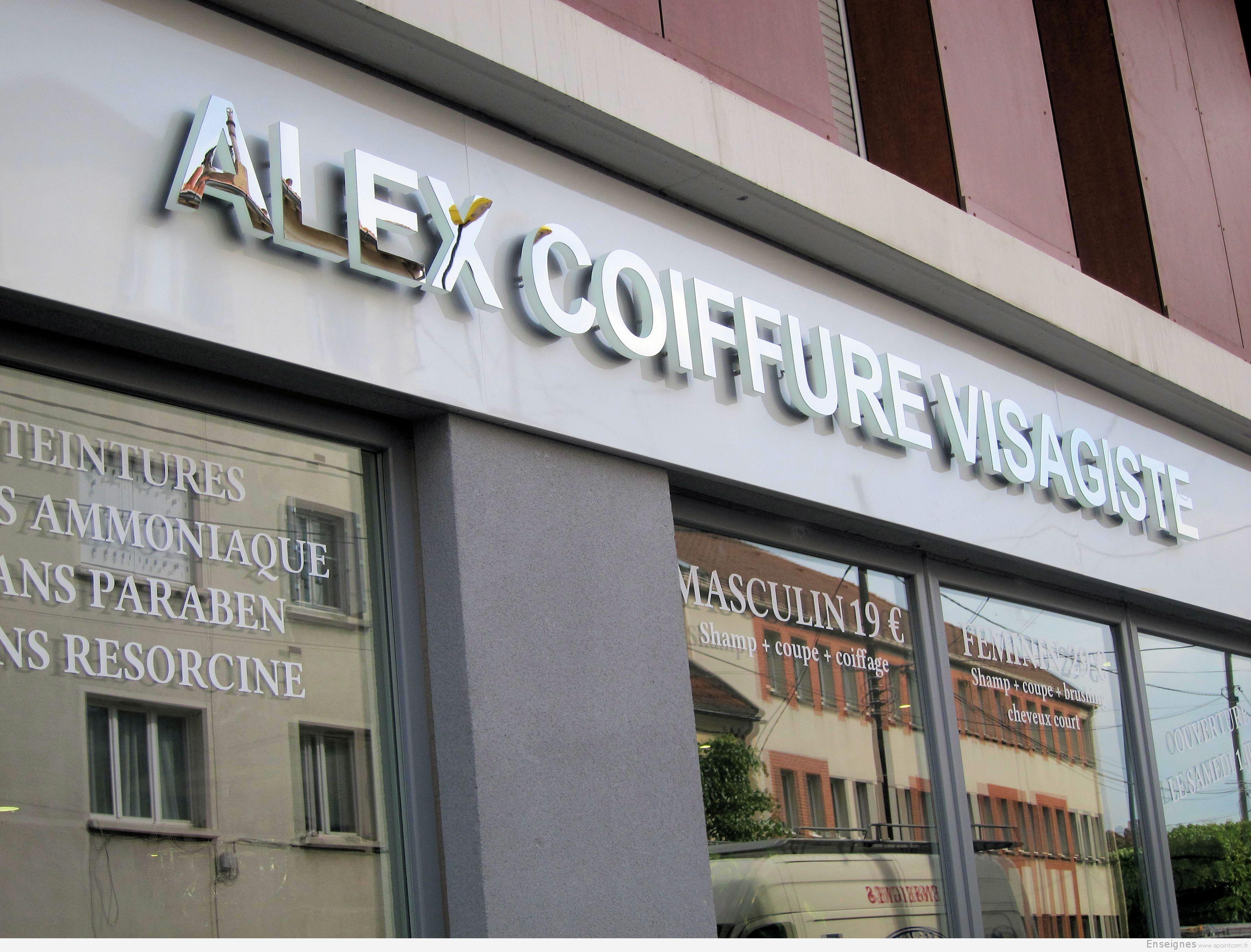 Enseigne Coiffeur A Chelles 77 Alex Visagiste Salon De