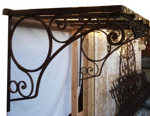Antique Iron Awning