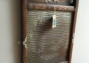 Jewelery holder I made from old washboard