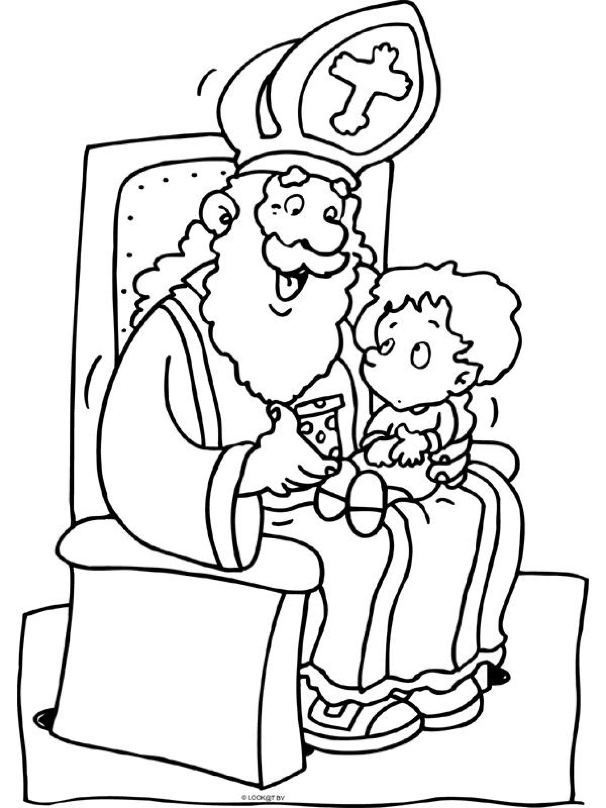 sinterklaas coloring pages learning how to read