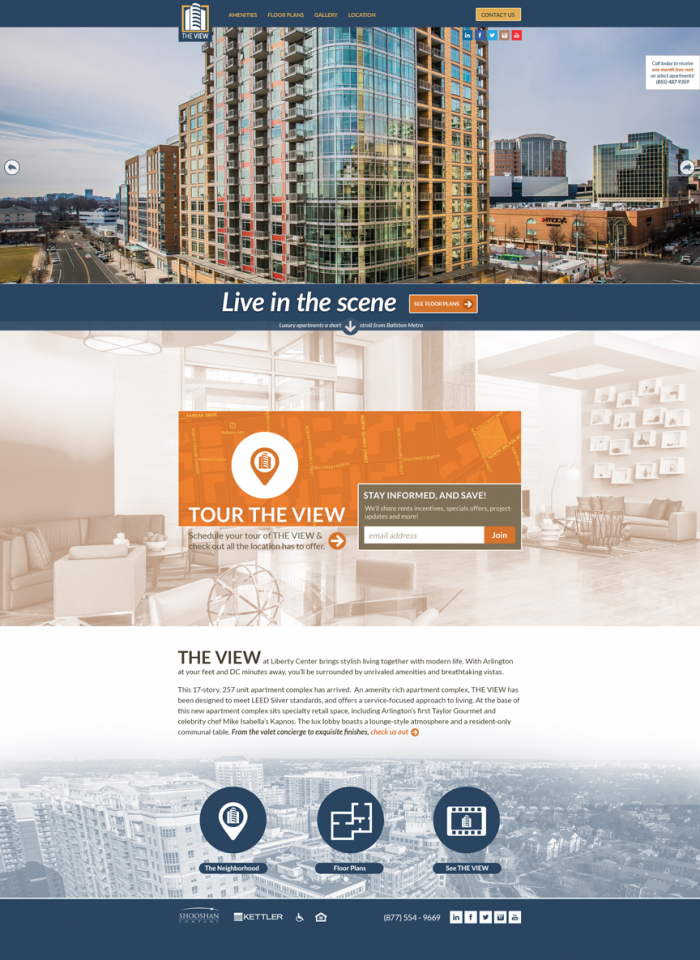 Web Site Designed To Represent The View At Liberty Center A Luxury Apartment Community Located In Arlington Site Design Web Design Projects Custom Web Design