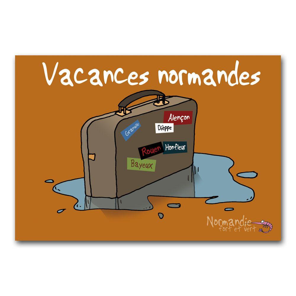 carte postale normandie humour
