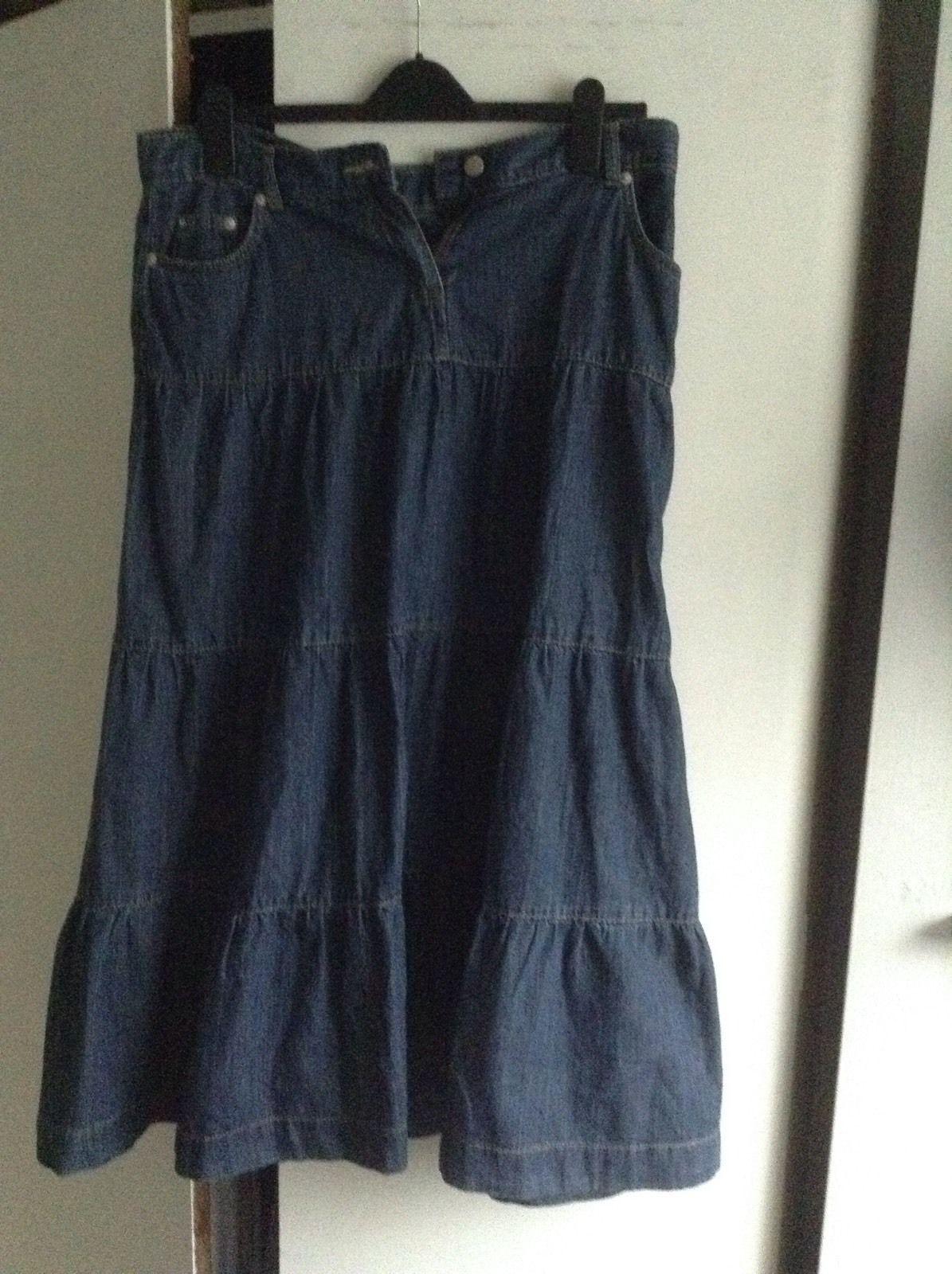 Tiered Denim Skirt Size 14 | eBay | Fashion & Clothing: 21st ...