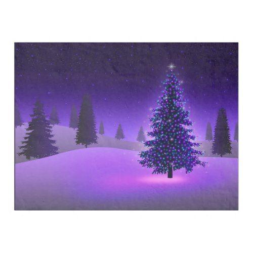 purple christmas tree small fleece blanket - Small Purple Christmas Tree