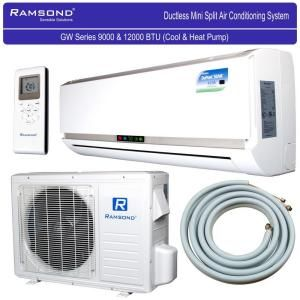 Ramsond 12 000 Btu 1 Ton Ductless Mini Split Air Conditioner And Heat Pump 220 Volt 60hz 37gwx Ductless Mini Split Heat Pump Ductless