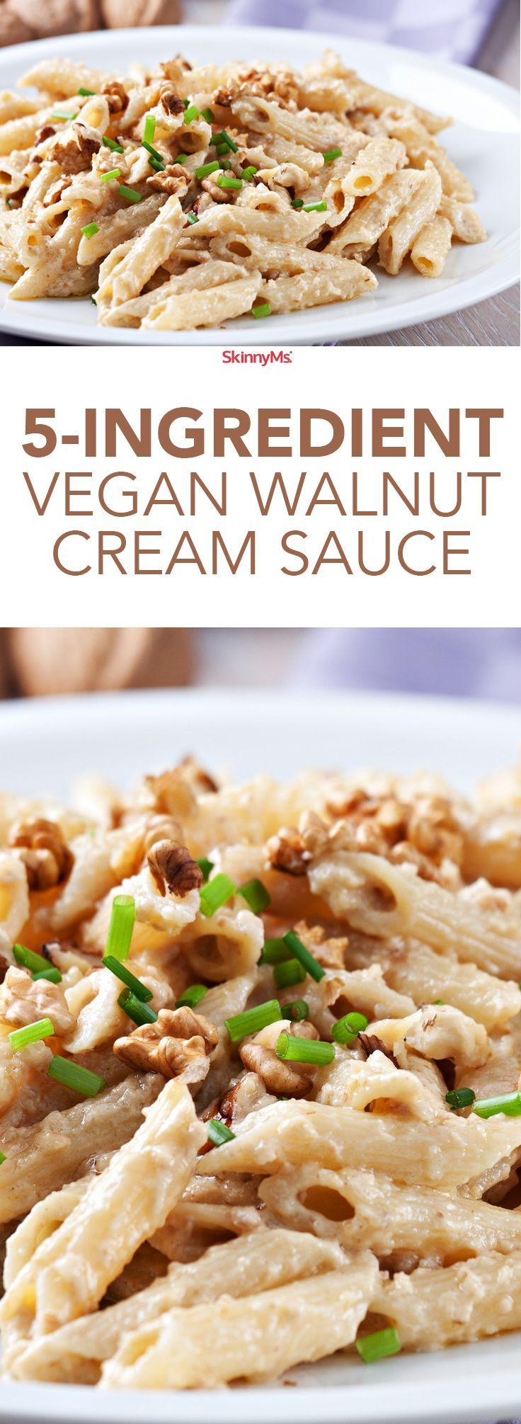 5-Ingredient Walnut Cream Sauce