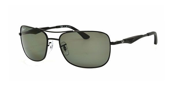 Ray-Ban for man rb3515 (ACTIVE LIFESTYLE)  - 006\/9A (MATTE BLACK\/polar green), Designer Sunglasses Caliber 58
