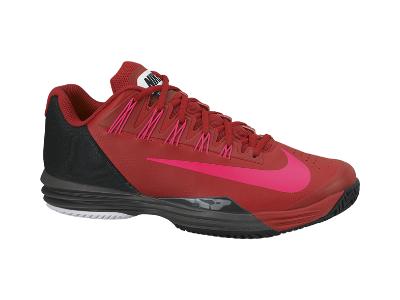 promo code 9db15 13a5e Nike Lunar Ballistec Men s Tennis Shoe, Gym Red Medium Ash Black Hyper Punch