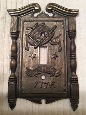 VINTAGE FYFE AND DRUM LIGHT SWITCH PLATE BY AMERICAN TACK AND HARDWARE 1968 SEE