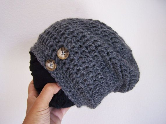 Baby Boy Slouch Beanie Grey Gray by SoLaynaInspirations on Etsy ...