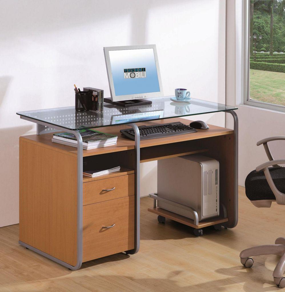 Techni Mobili Glas Computer Schreibtisch Home Office Mobel Sets Eine Der Besten Alternat Glasschreibtisch Schreibtisch Mit Aktenschrank Aktenschrank