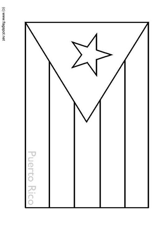 Coloring Page Flag Puerto Rico Coloring Picture Flag Puerto Rico