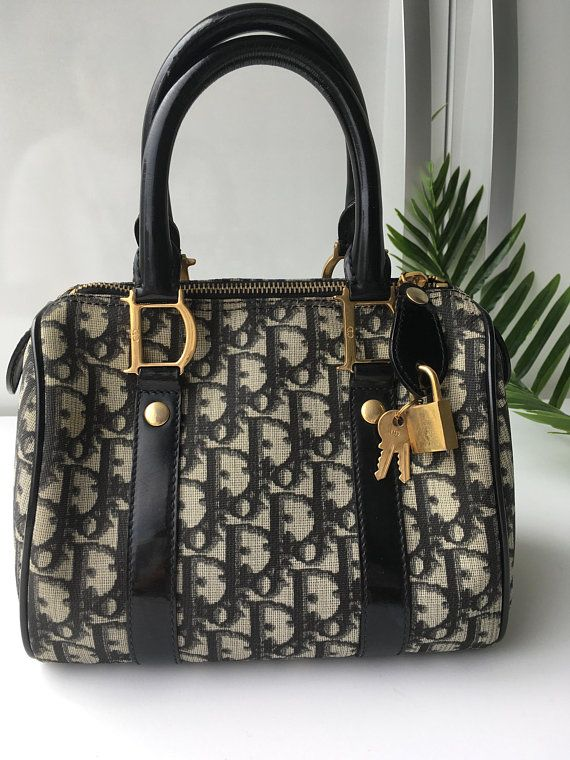 3a249b8ab85b Authentic Christian Dior Bag Trotter Monogram Mini Speedy 20 Top Handle  Vintage Authentic /Blue Jac