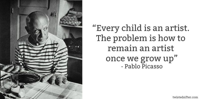 Image result for every child is an artist picasso