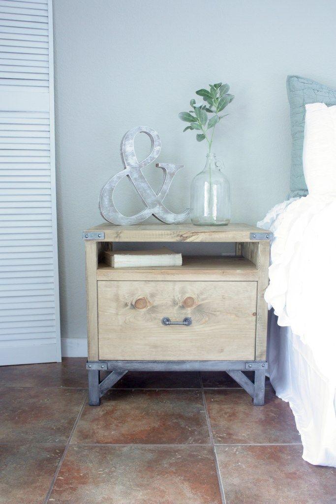 Best Diy Industrial Nightstand Vintage Industrial Furniture 400 x 300