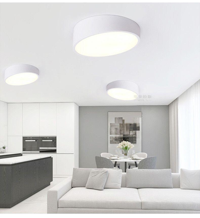 Nowoczesne lampy sufitowe led do oświetlenia wnętrz plafon