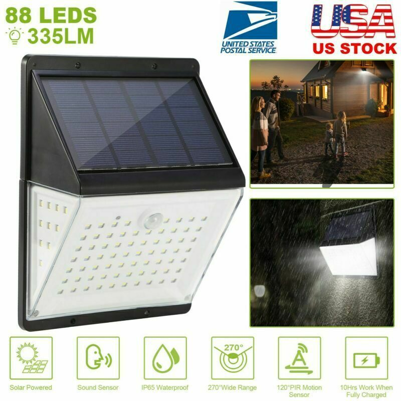 Led Solar Motion Sensor Wall Light Outdoor Waterproof Garden Lamp Sound Control Solar Lamp Solarlamp In 2020 Solar Lamp Outdoor Wall Lighting Garden Lamps