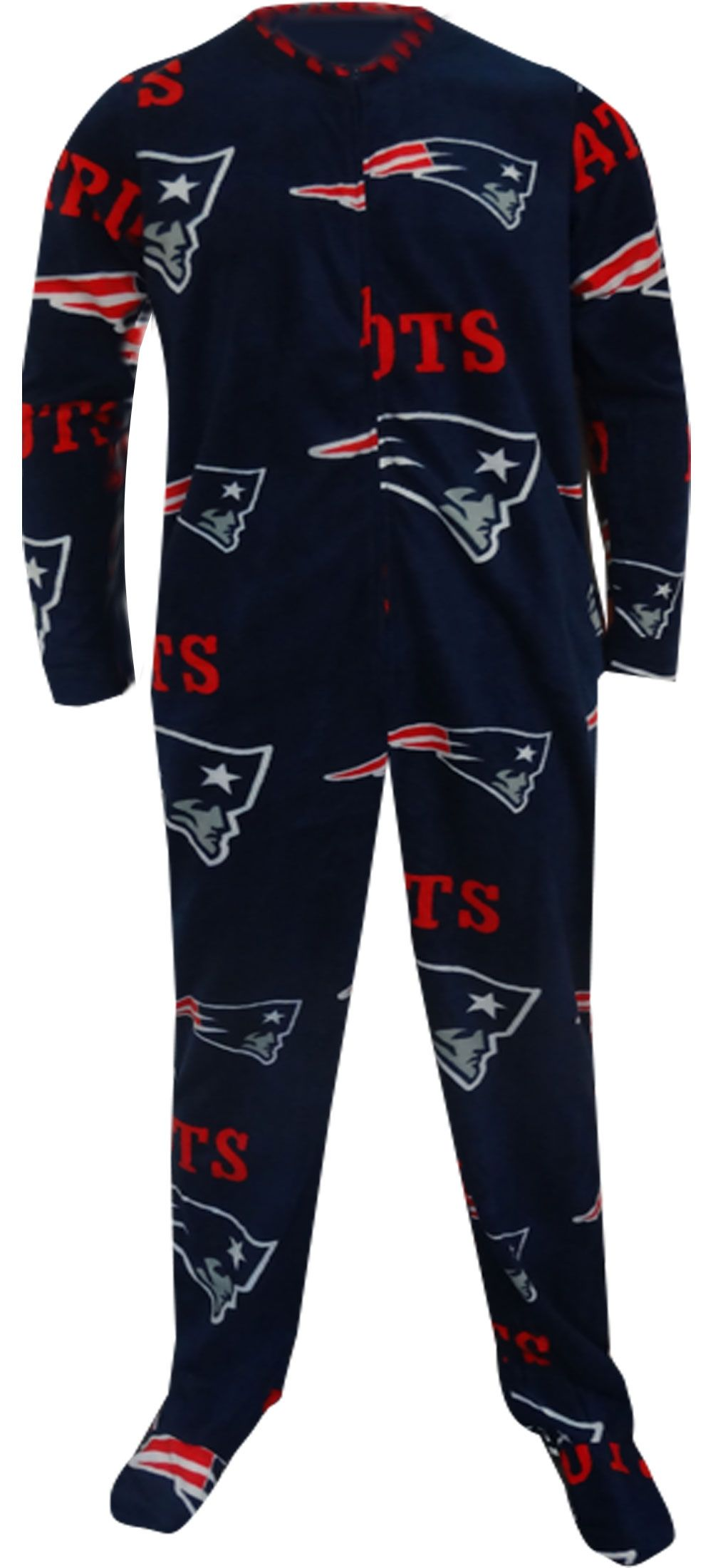 Webundies Com New England Patriots Guys Navy Blue Onesie Footie Pajama New England Patriots Mens Loungewear New England Patriots Football