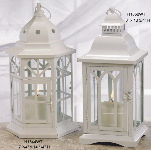 centerpieces white lantern candle