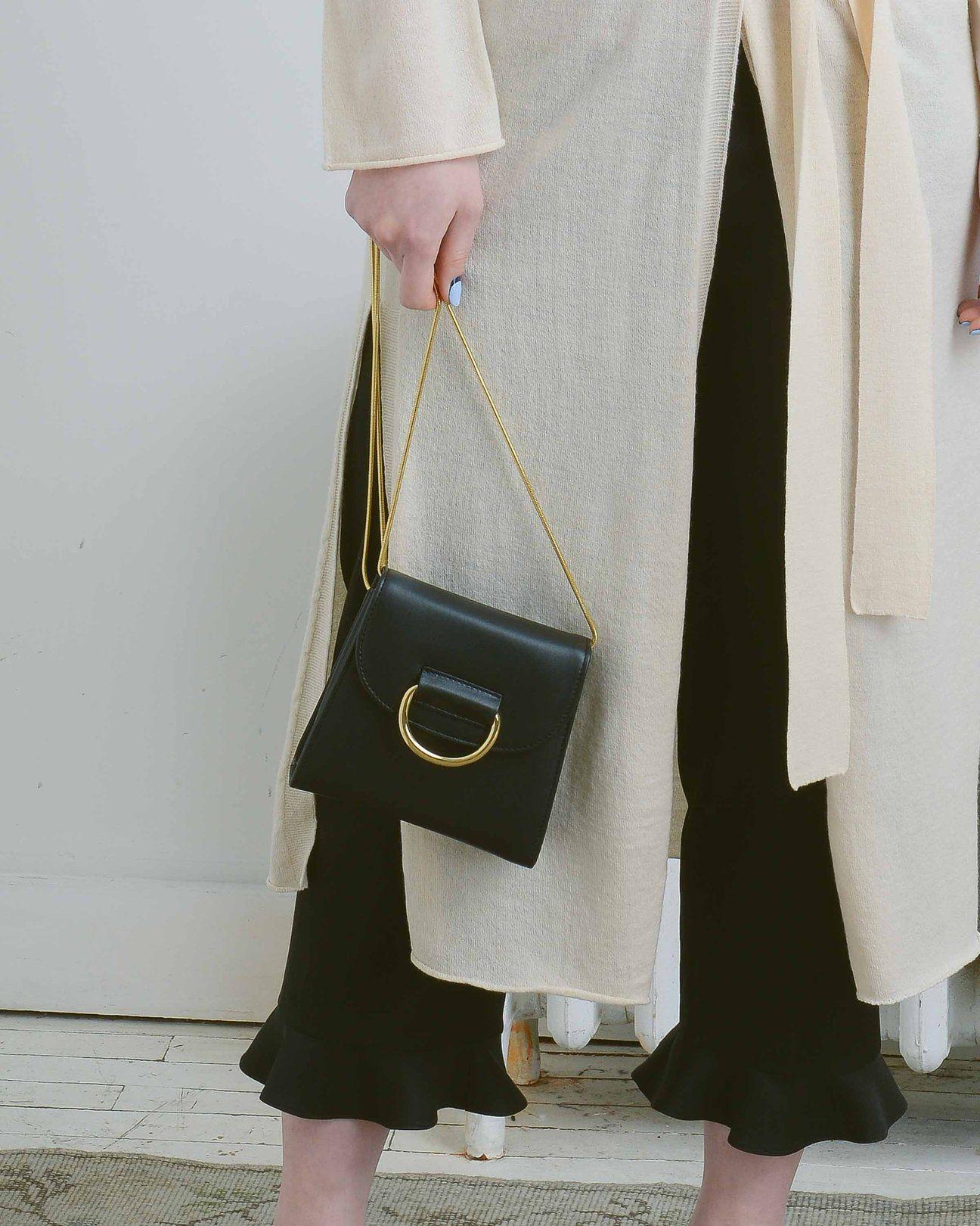 fa59e4b33 Little Liffner Black Calf Tiny Box Bag Mini Crossbody Bag, Box Bag, Calf  Leather
