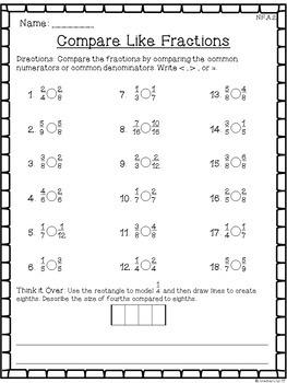 Year 4 - Ordering Fractions (Worksheet) | Teaching Resources