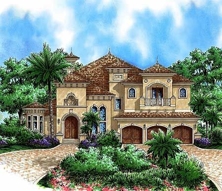 Plan 66180WE Beautiful Tuscan Appeal Tuscan style House and
