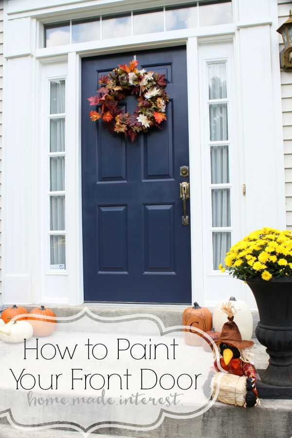 Exterior Door Paint a simple fall house update - how to paint an exterior door | front
