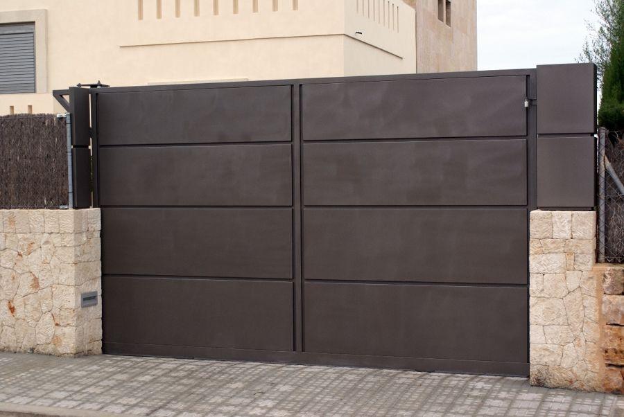 Cancela corredera portones para garages en 2019 for Puertas metalicas para exteriores