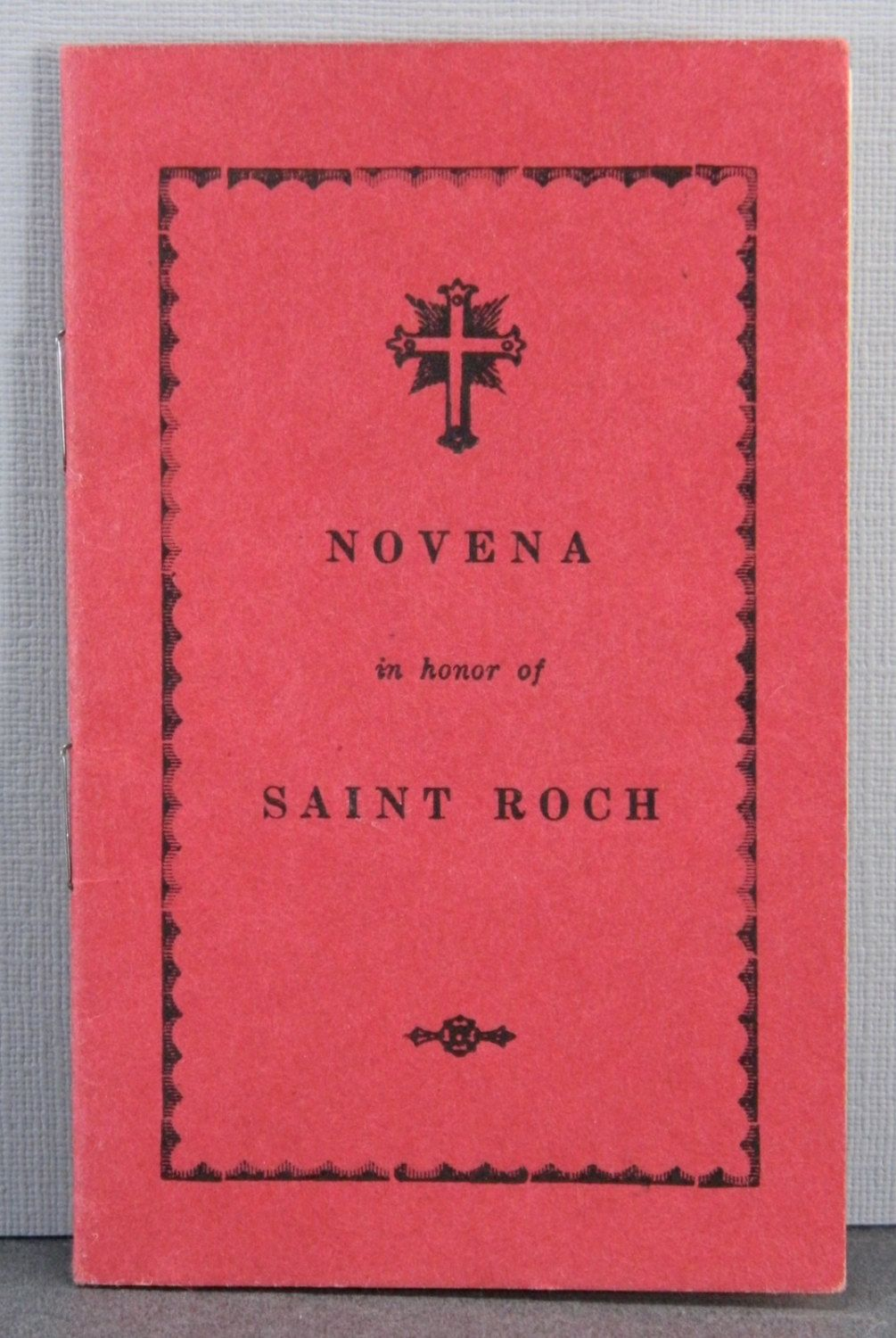 Novena Prayers in Honor of Saint Roch Imprimatur 1894 Vintage Catholic Booklet 17729 by QueeniesCollectibles on Etsy