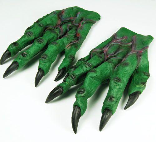Large Green Goblin Hands Gloves Monster Crocodile Halloween Fancy Dress Adult  sc 1 st  Pinterest & Large Green Goblin Hands Gloves Monster Crocodile Halloween Fancy ...