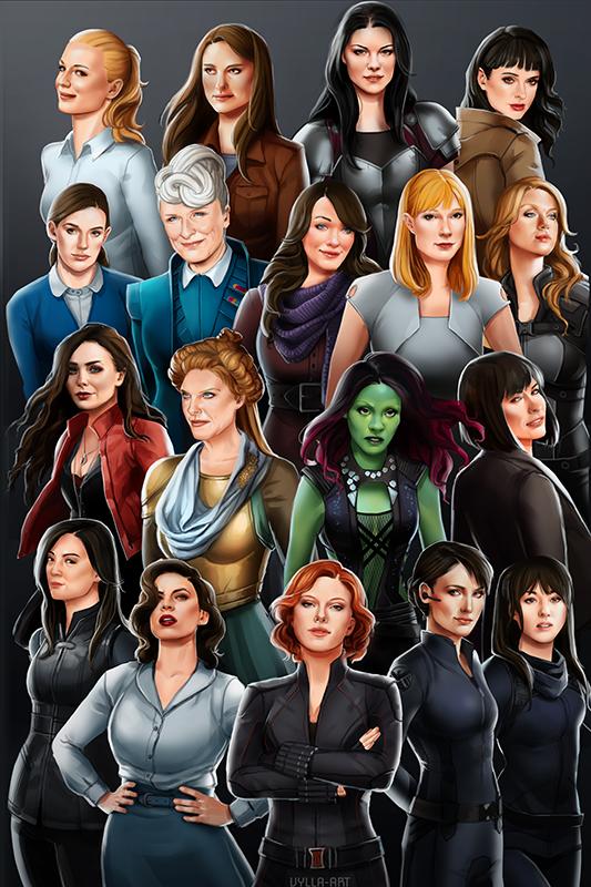 """""""Women of Marvel"""" by vylla-art   Avengers   Marvel, Marvel ...  """"Women of ..."""