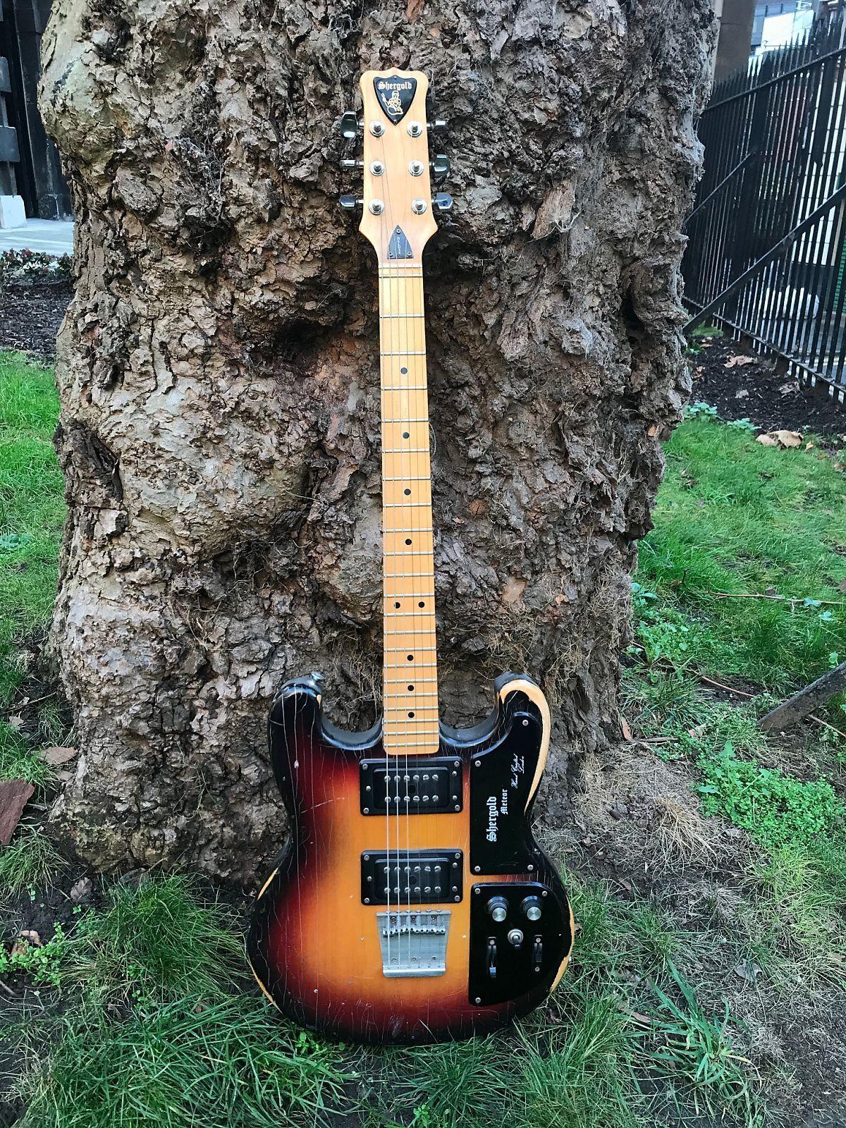 Shergold Meteor Deluxe 1977 Sunburst   Reverb   Guitar in