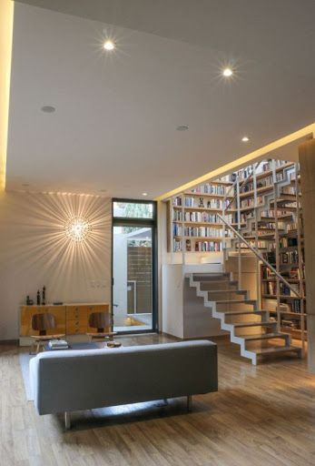 #light #wall #living room #stairs