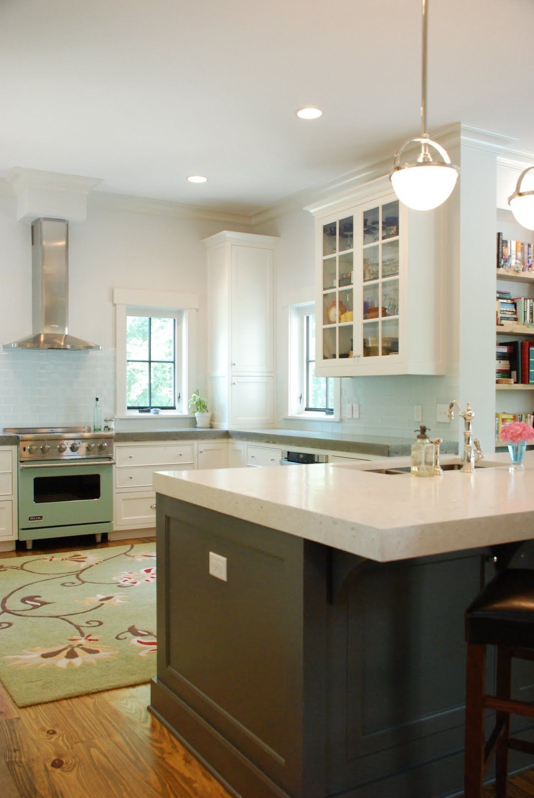 cement kitchen countertops white cabinets   they opted for grey ...