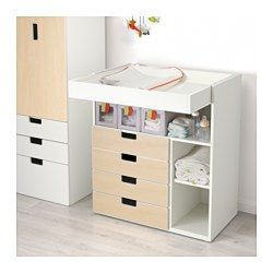 f6aced9e5238 IKEA - STUVA, Changing table with 4 drawers, white/birch, , This changing  table grows with your child, lower the top to the desired height to  transform it ...