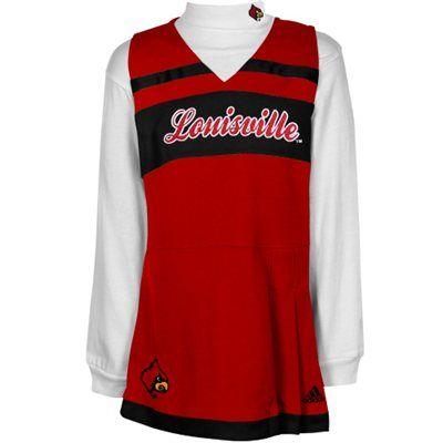 e10d9674 adidas Louisville Cardinals Toddler Girls 2-Piece Turtleneck ...