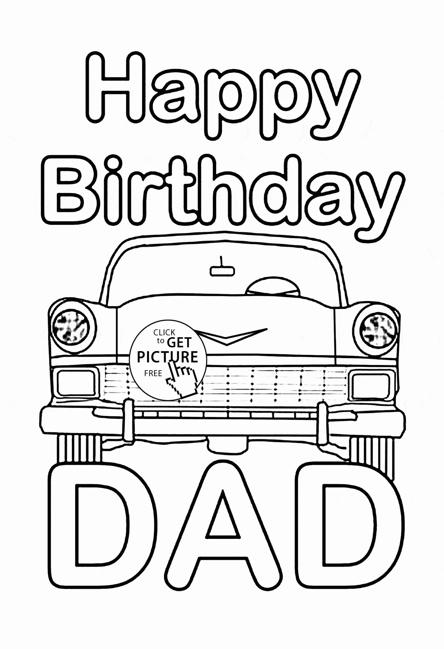 Happy Birthday Daddy Coloring Page Inspirational Happy Birthday Dad Coloring Page Fo Happy Birthday Coloring Pages Coloring Birthday Cards Happy Birthday Daddy