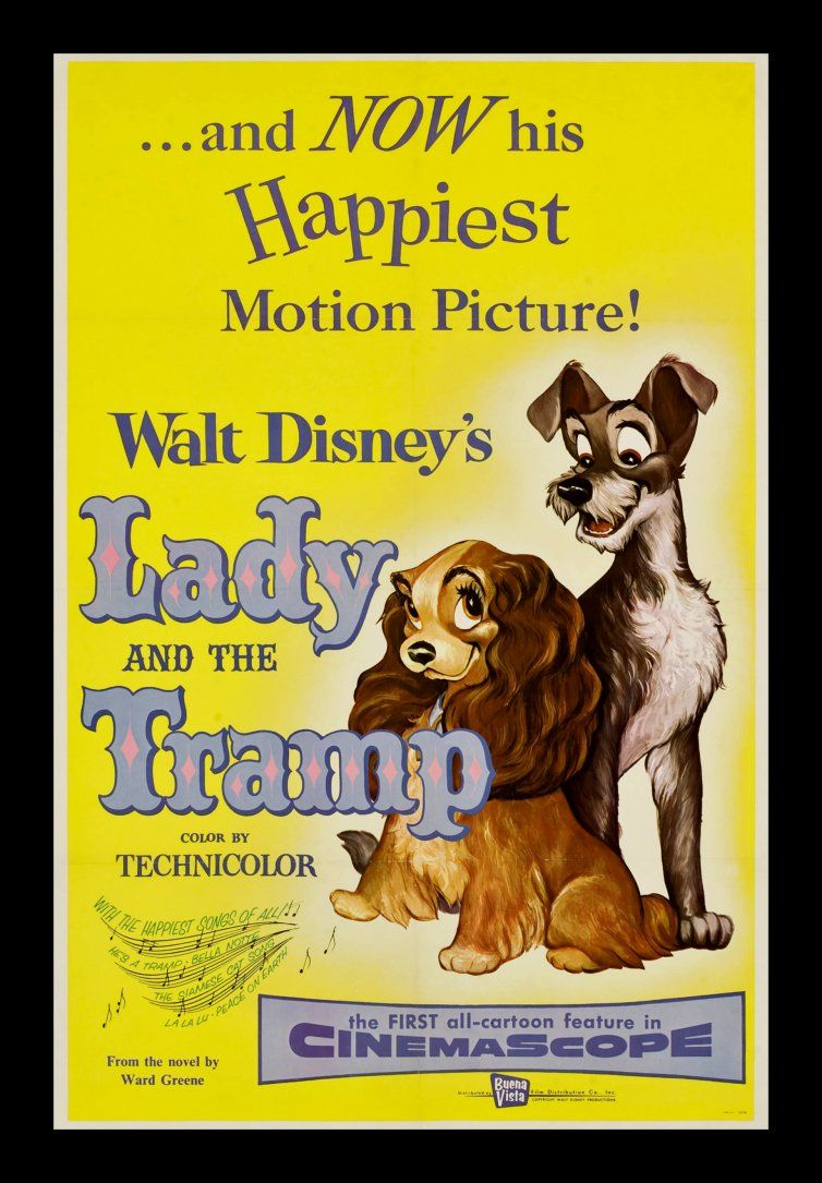 Lady and the Tramp Movie POSTER 27 x 40 Larry Roberts Peggy Lee I USA NEW