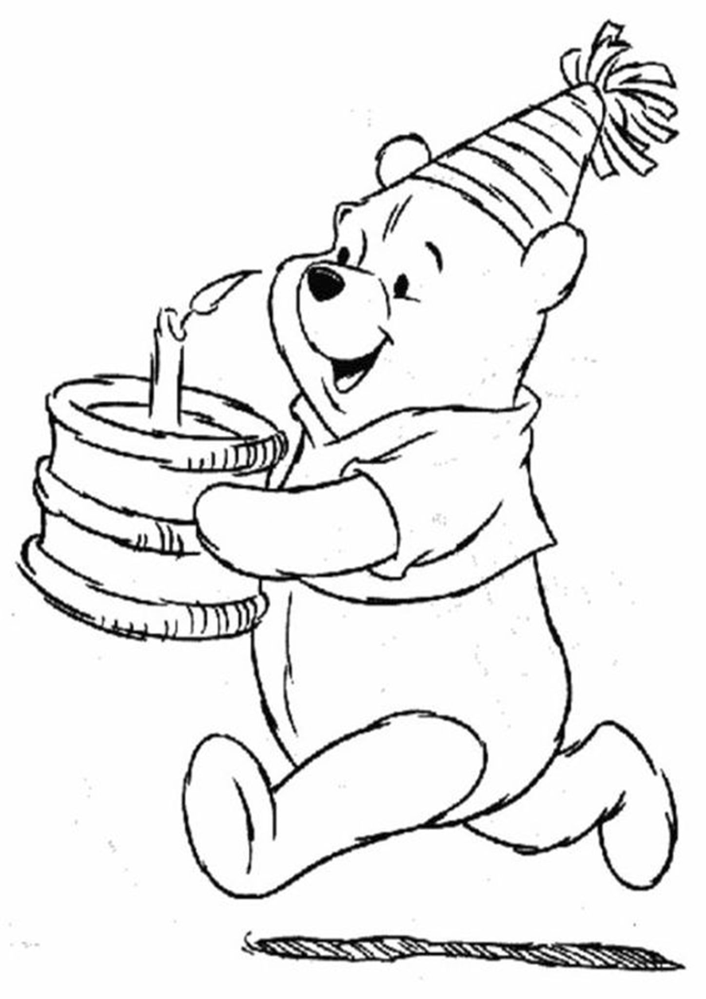 Free Easy To Print Cake Coloring Pages Birthday Coloring Pages Happy Birthday Coloring Pages Bear Coloring Pages