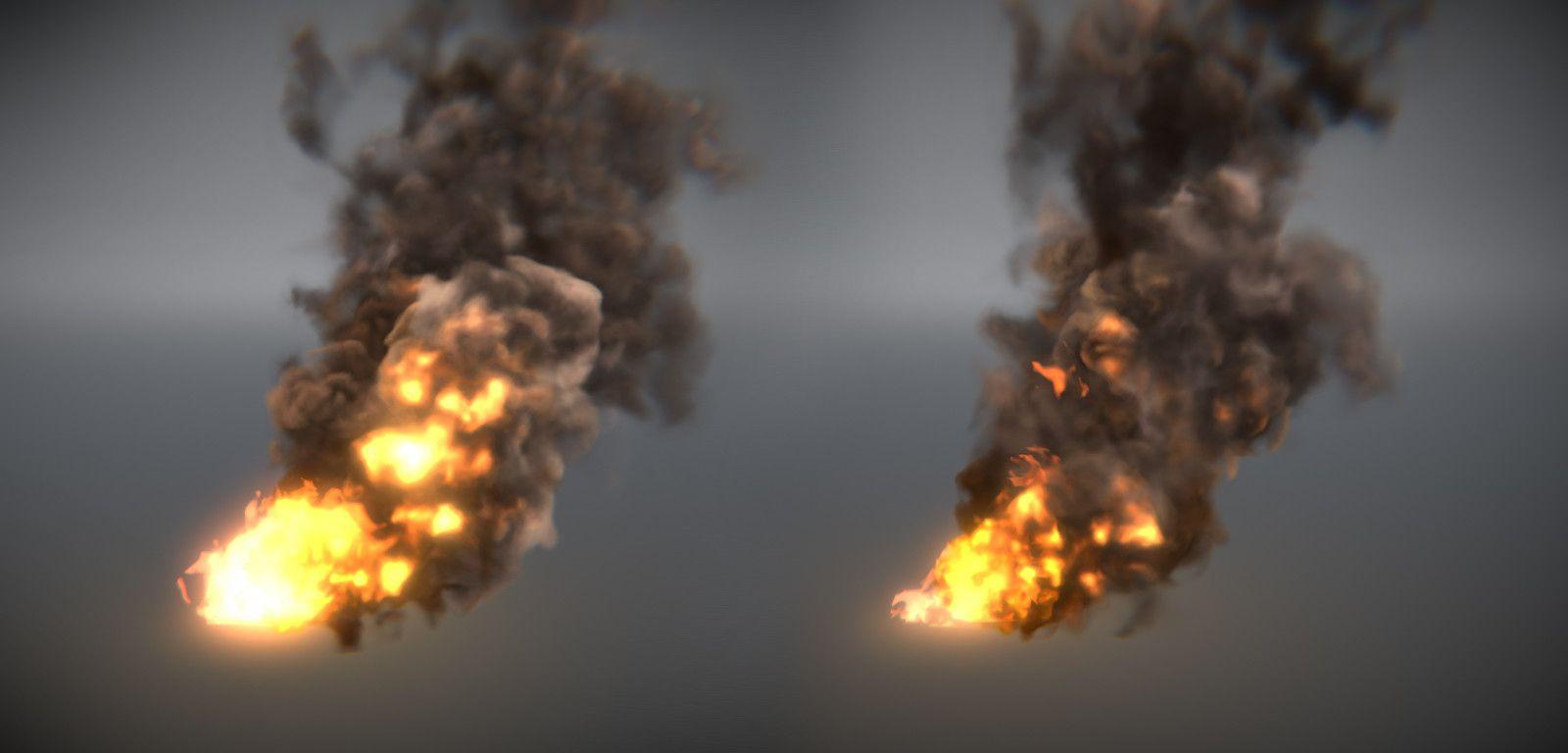 ArtStation - Burning smoke (Unity real-time / Shader Graph), Ivan