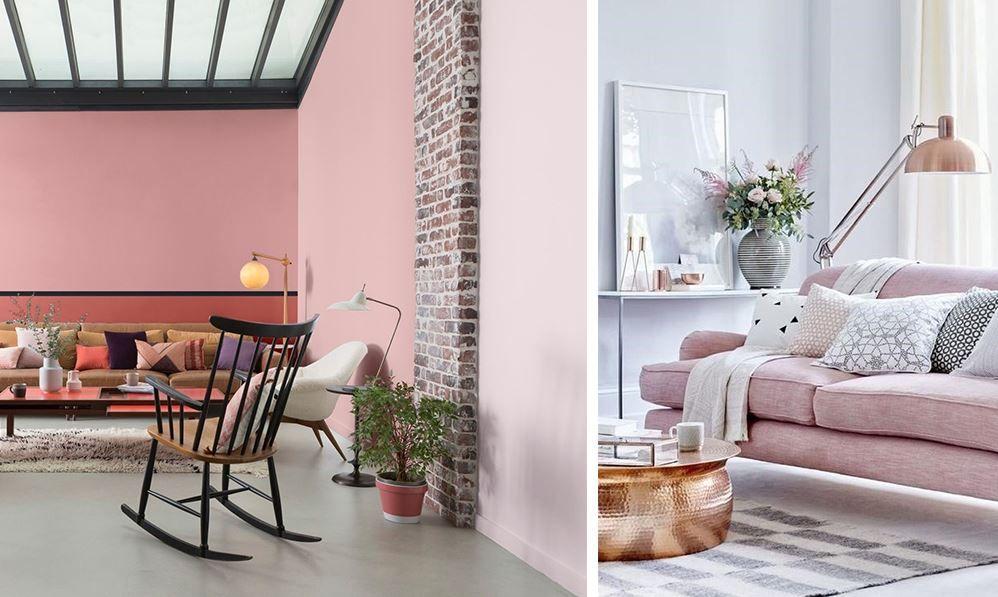 Salon gris et rose : Nos idées et inspirations pour votre déco en 2020 | Salon rose, Decoration ...