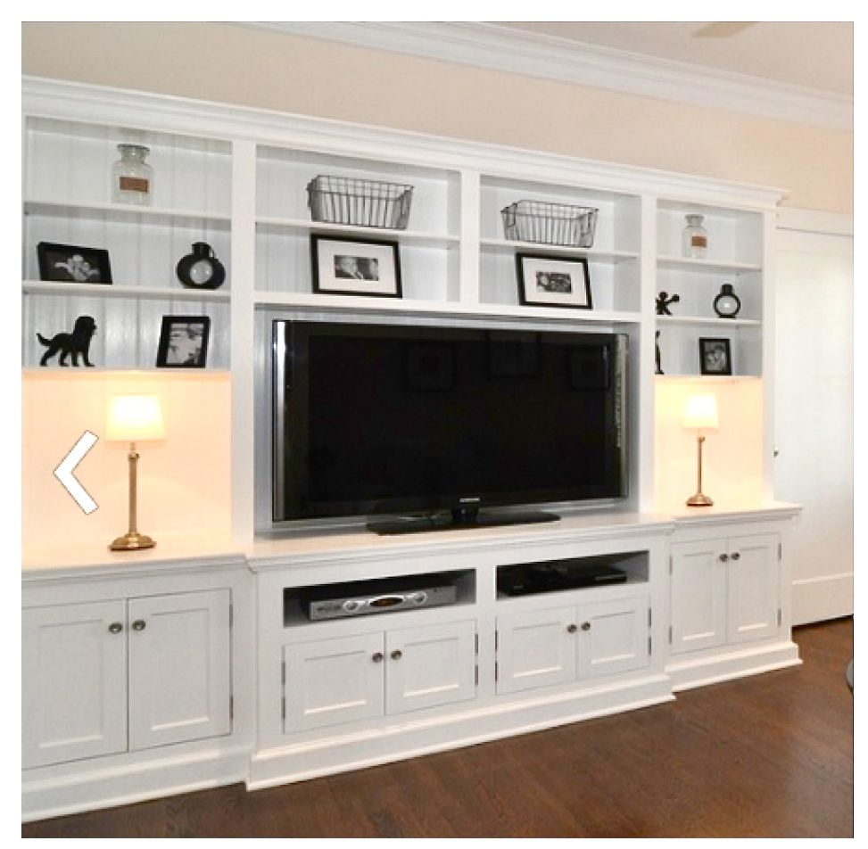 Lake Front Living Room Built In Wall Units Built In