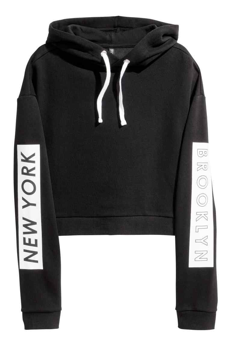 Cropped hooded top | Hoods, Sweatshirt and Clothes